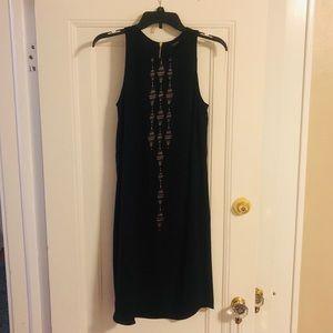 Apt. 9 Black cotton shift dress with bronze detail